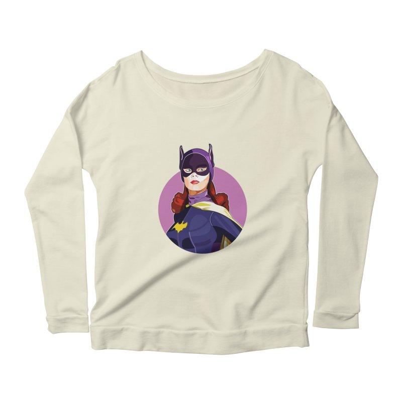 Batgirl Women's Scoop Neck Longsleeve T-Shirt by StuffByRabassa Artist Shop