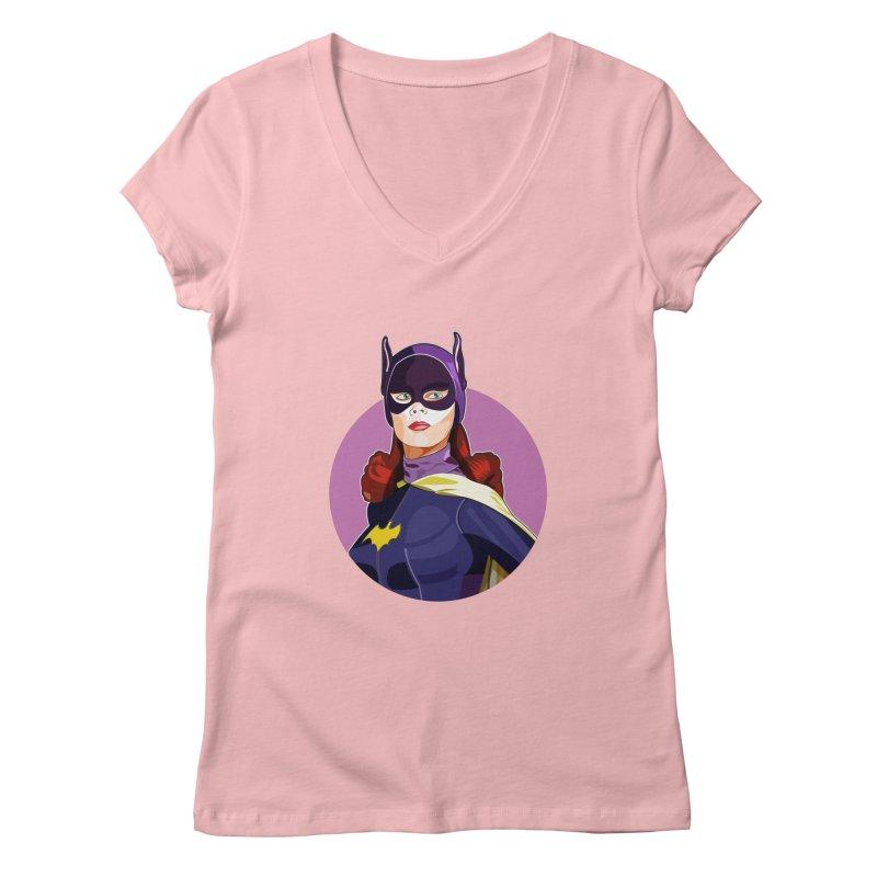 Batgirl Women's Regular V-Neck by StuffByRabassa Artist Shop