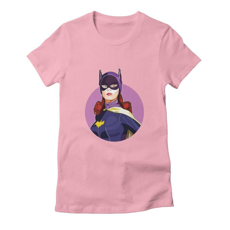 Batgirl Women's Fitted T-Shirt by StuffByRabassa Artist Shop