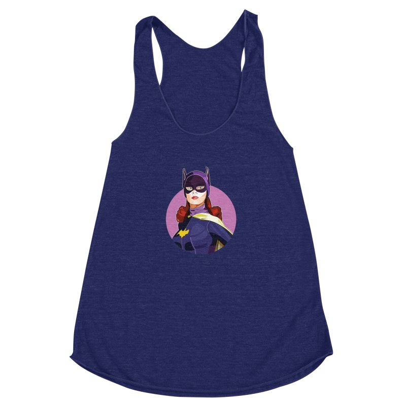 Batgirl Women's Racerback Triblend Tank by StuffByRabassa Artist Shop