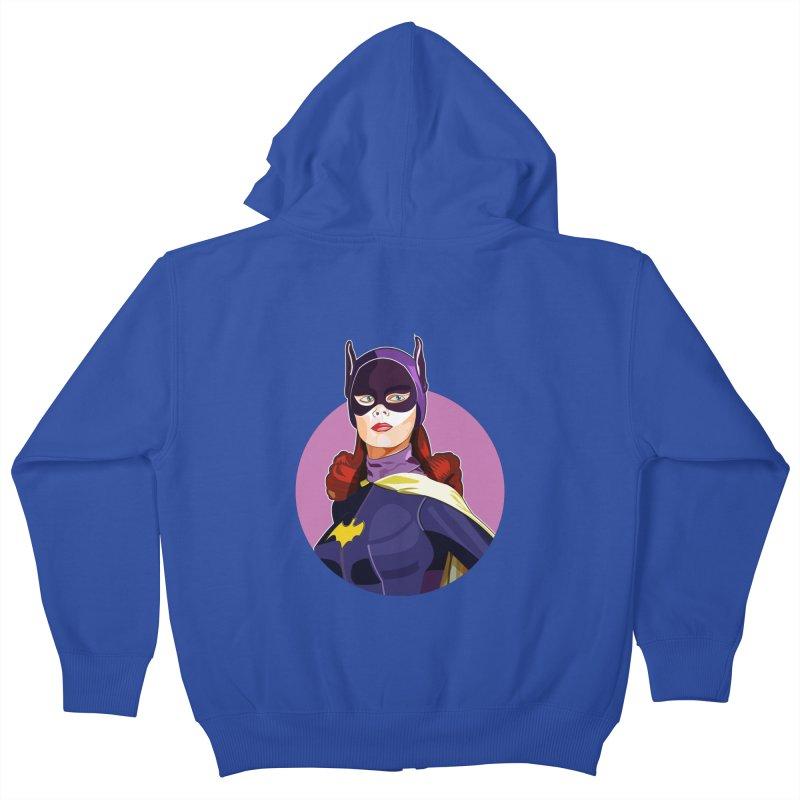 Batgirl Kids Zip-Up Hoody by StuffByRabassa Artist Shop