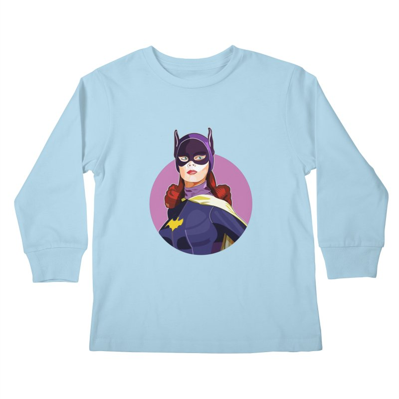 Batgirl Kids Longsleeve T-Shirt by StuffByRabassa Artist Shop