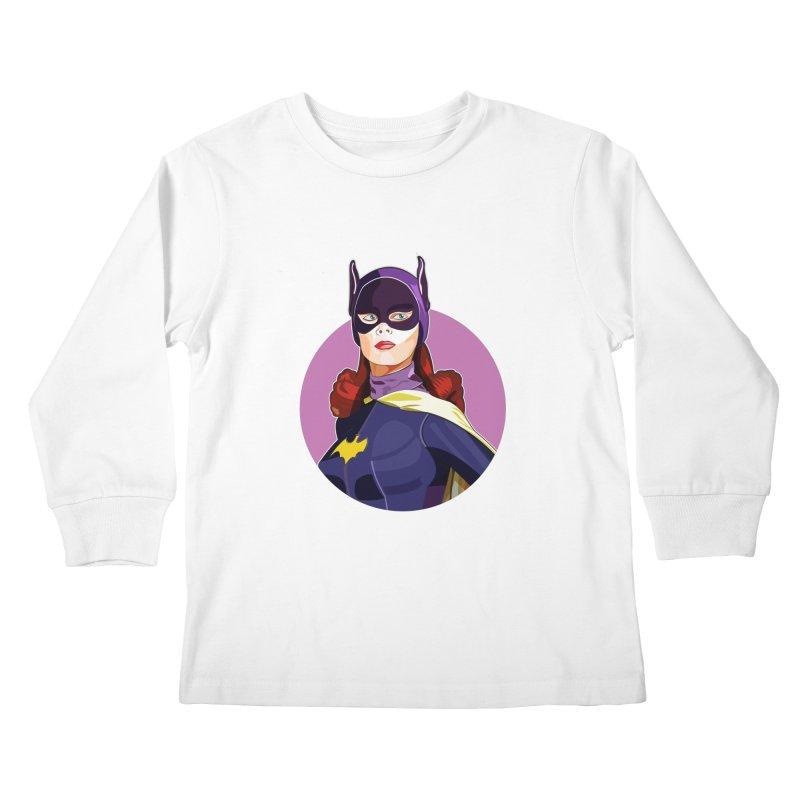 Batgirl Kids Longsleeve T-Shirt by StuffByRabassa Artist Shop