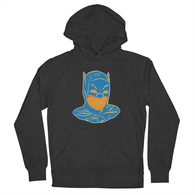 Batman Men's French Terry Pullover Hoody by StuffByRabassa Artist Shop