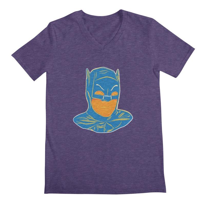 Batman Men's V-Neck by StuffByRabassa Artist Shop