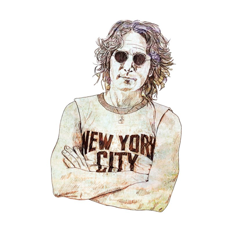New York Men's V-Neck by StuffByRabassa Artist Shop