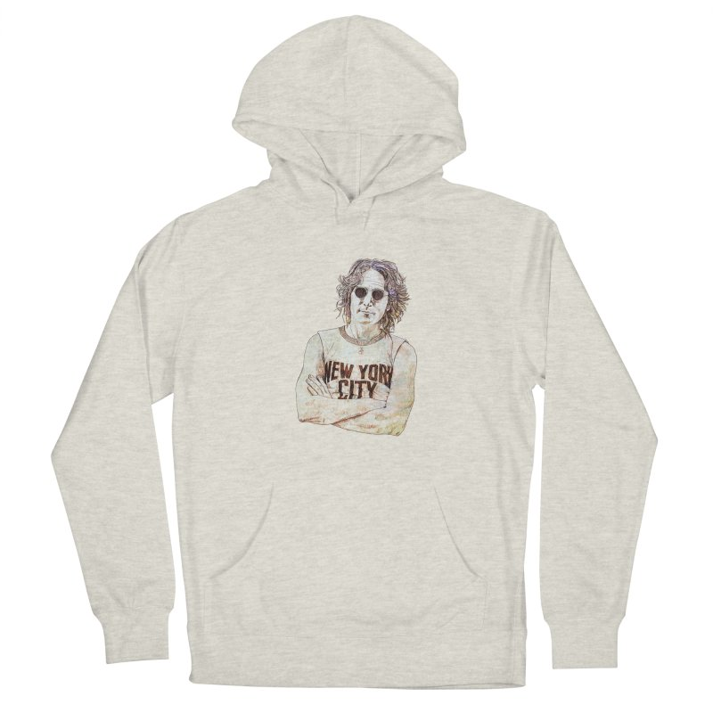 New York Men's French Terry Pullover Hoody by StuffByRabassa Artist Shop