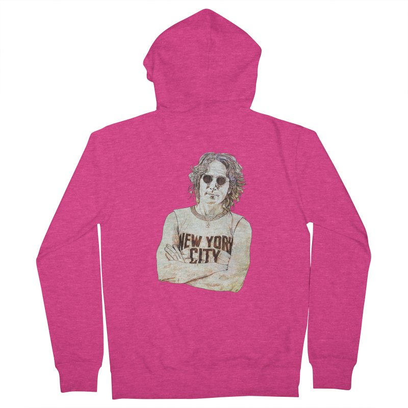 New York Women's French Terry Zip-Up Hoody by StuffByRabassa Artist Shop