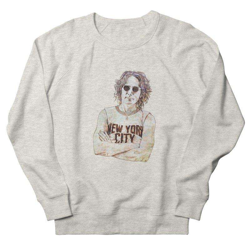 New York Women's French Terry Sweatshirt by StuffByRabassa Artist Shop