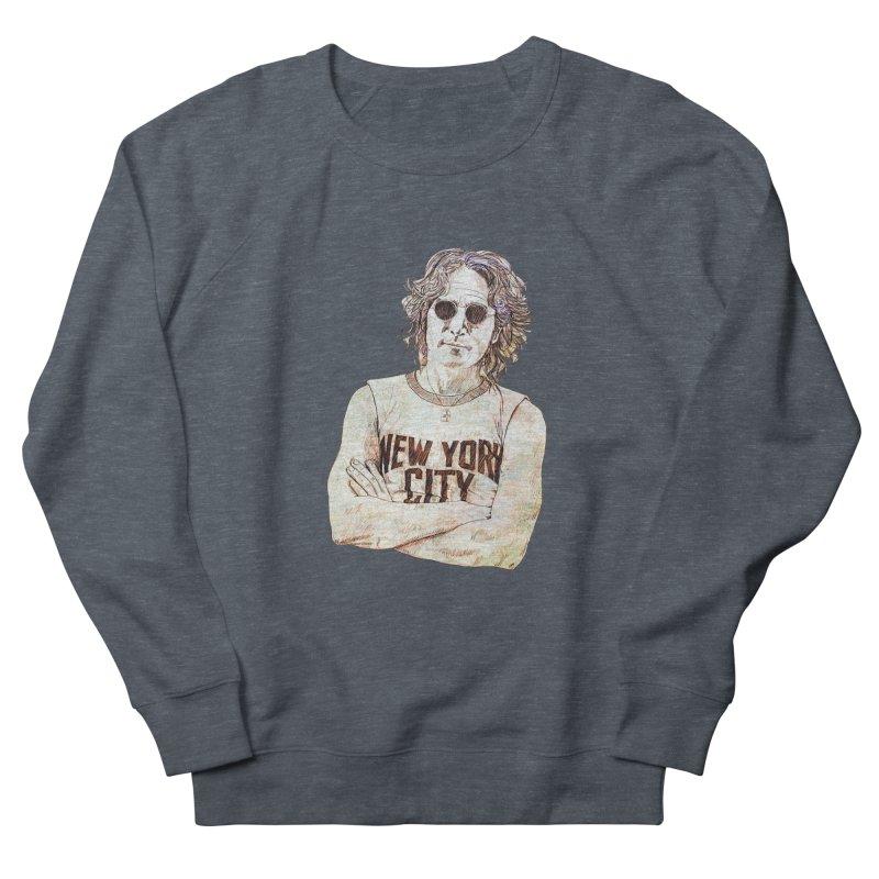 New York Men's French Terry Sweatshirt by StuffByRabassa Artist Shop