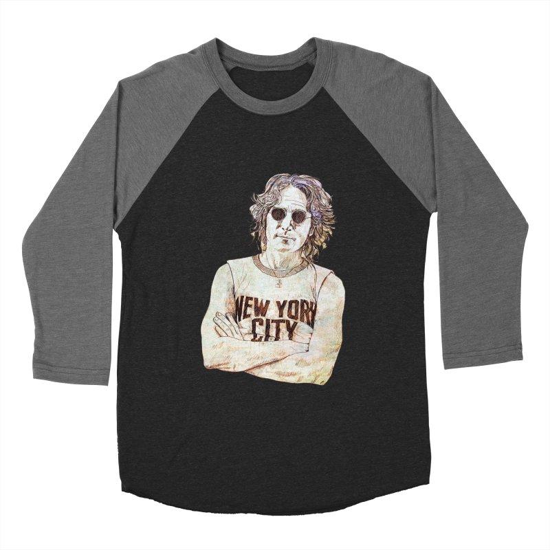 New York Men's Baseball Triblend T-Shirt by StuffByRabassa Artist Shop