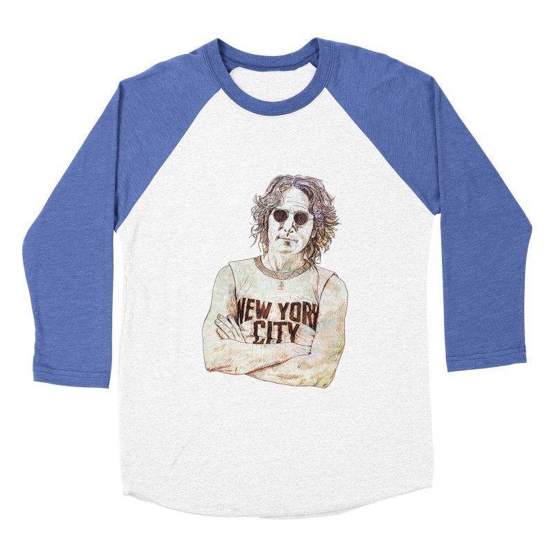 New York Men's Baseball Triblend Longsleeve T-Shirt by StuffByRabassa Artist Shop