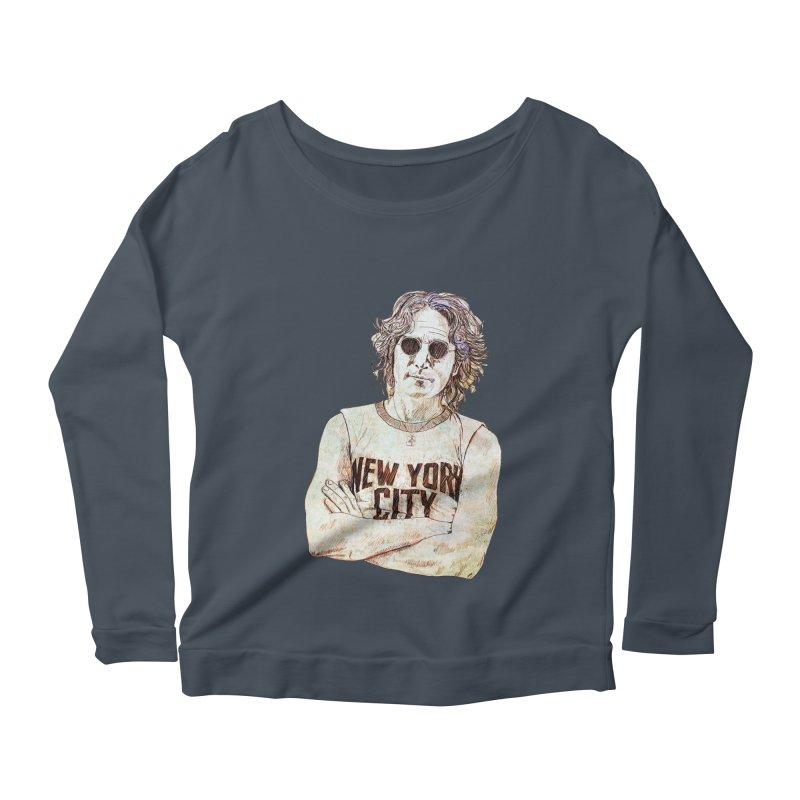 New York Women's Scoop Neck Longsleeve T-Shirt by StuffByRabassa Artist Shop
