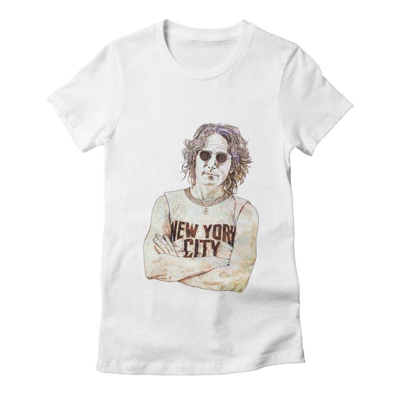 New York Women's Fitted T-Shirt by StuffByRabassa Artist Shop