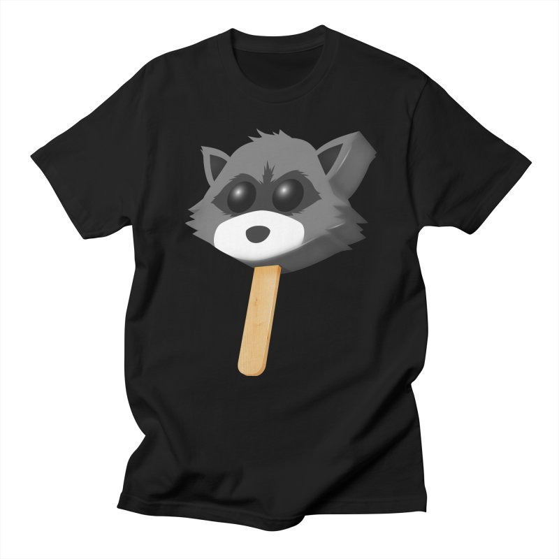 Ice Cream in Men's T-Shirt Black by Raccoon Brand