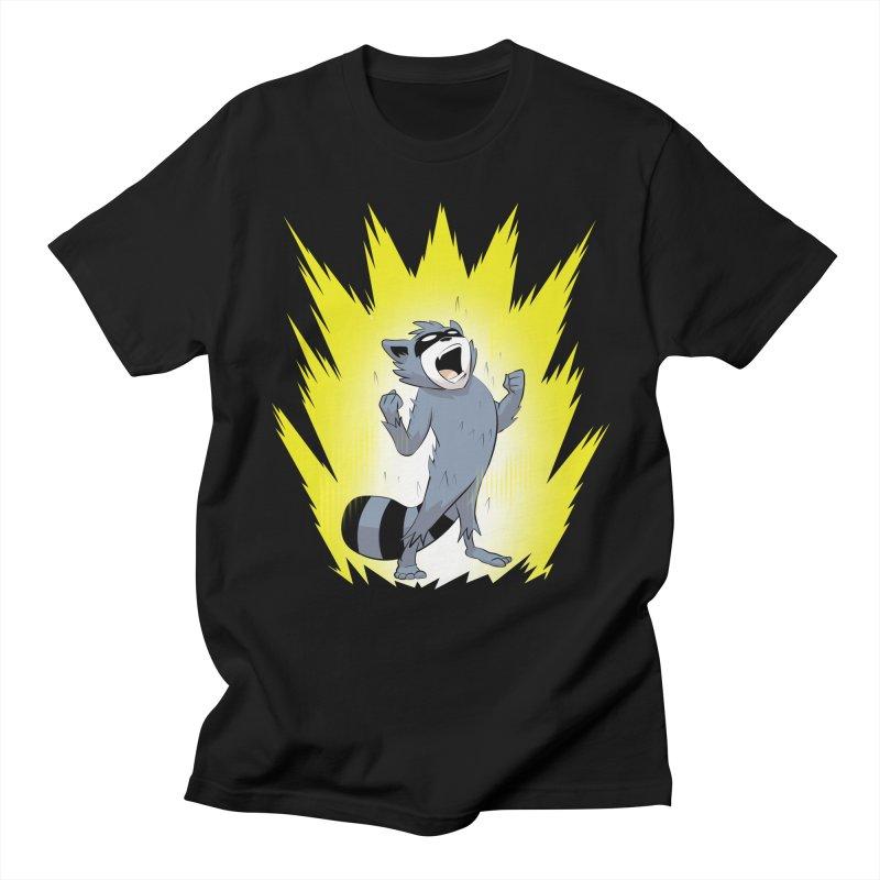 Going Super Saiyan in Men's T-Shirt Black by Raccoon Brand