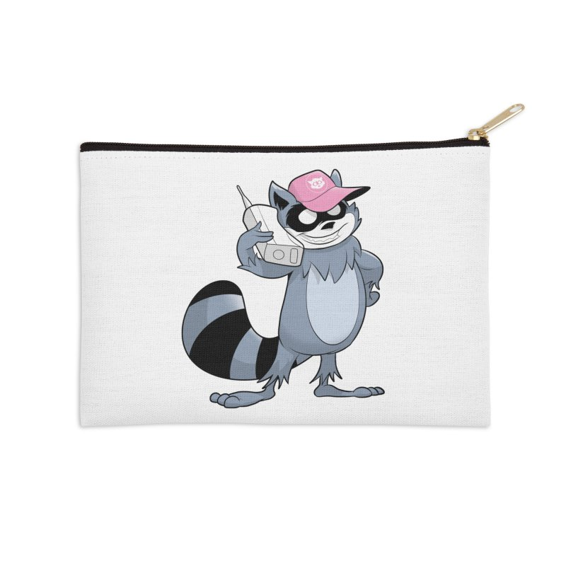 Retro Raccoon Accessories Zip Pouch by Raccoon Brand