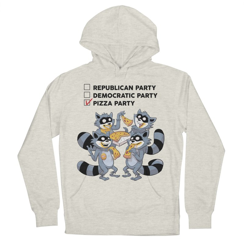 Pizza Party Men's Pullover Hoody by Raccoon Brand