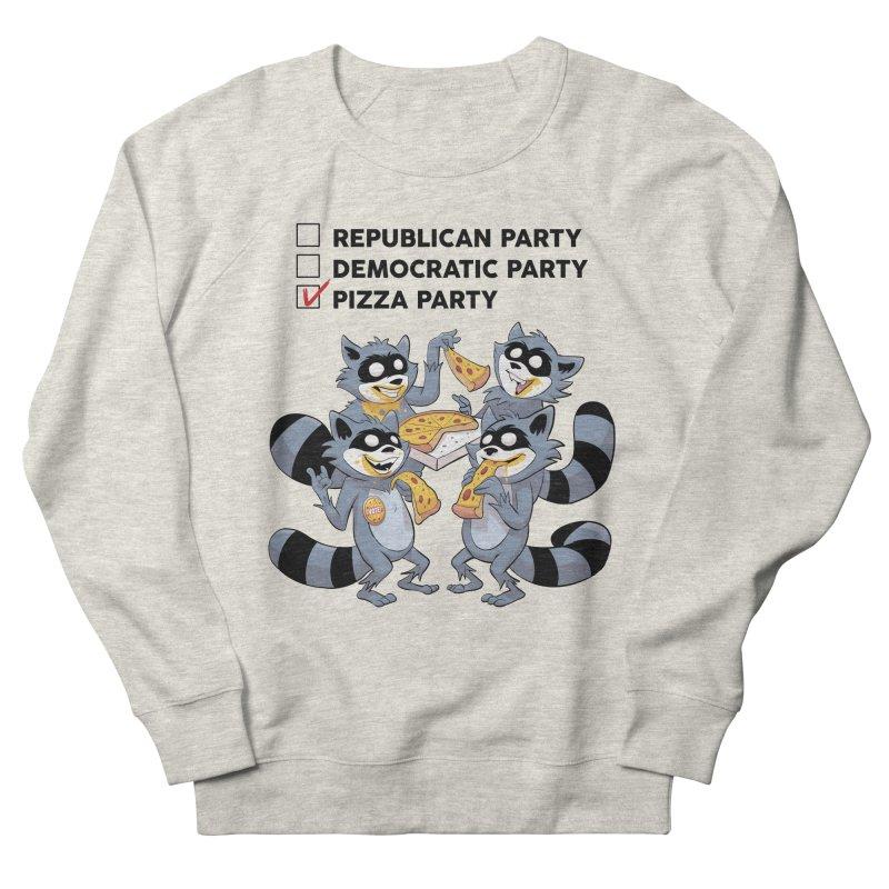 Pizza Party Men's Sweatshirt by Raccoon Brand
