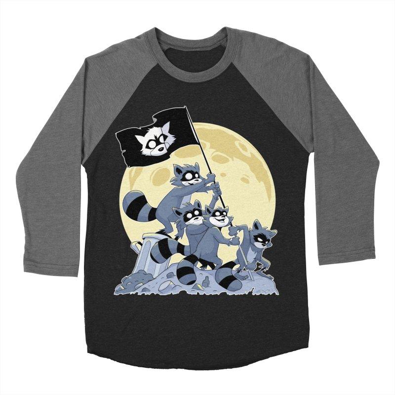 Raising the Flag Women's Baseball Triblend T-Shirt by Raccoon Brand
