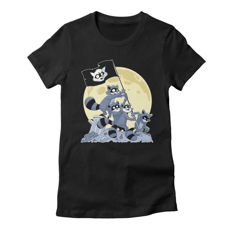 Raising the Flag Women's Fitted T-Shirt by Raccoon Brand