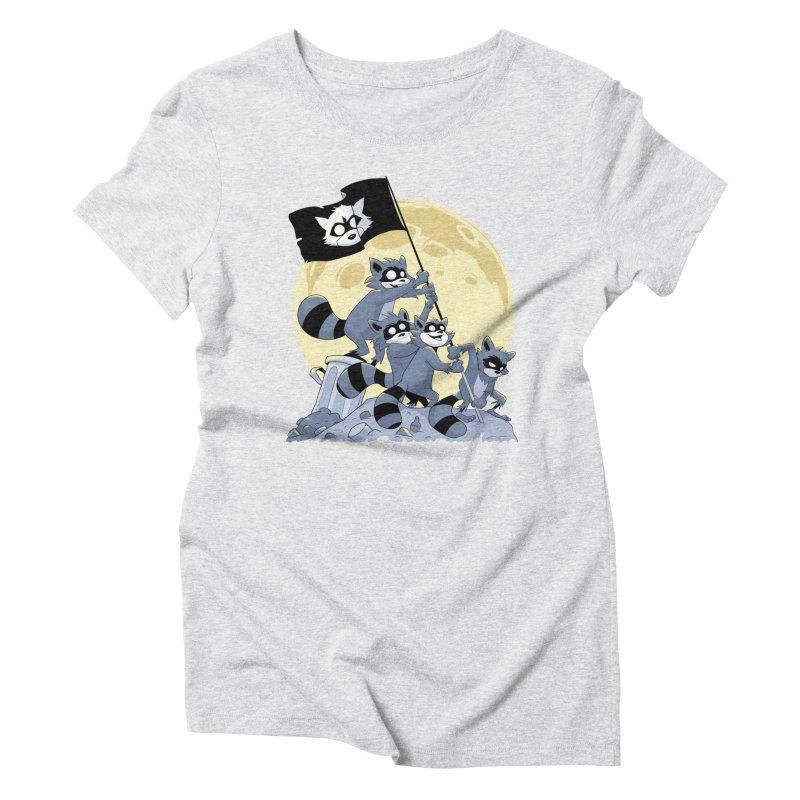 Raising the Flag Women's Triblend T-Shirt by Raccoon Brand