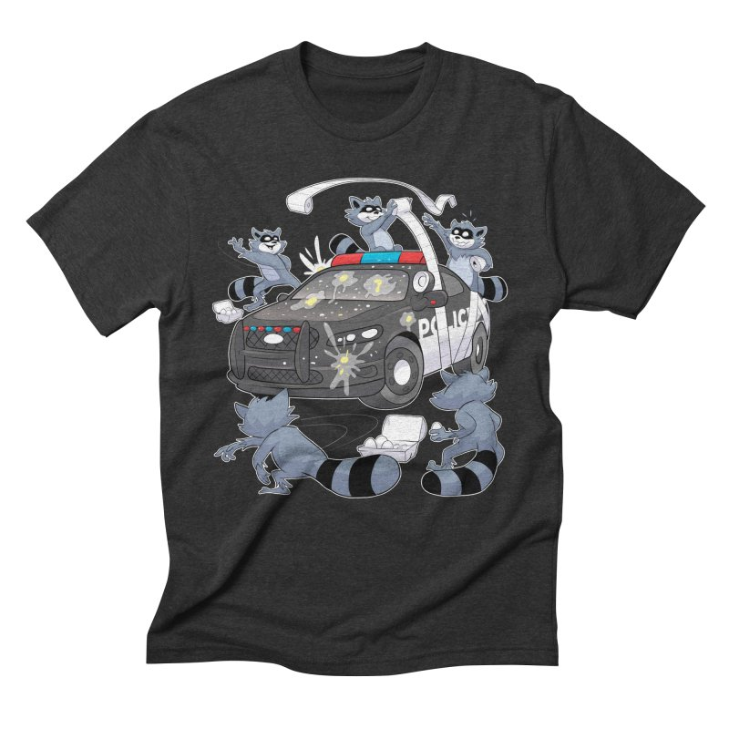 Midnight Mischief Men's Triblend T-Shirt by Raccoon Brand