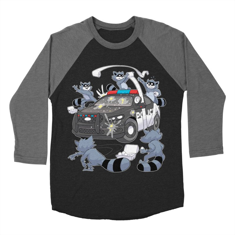 Midnight Mischief Women's Baseball Triblend T-Shirt by Raccoon Brand