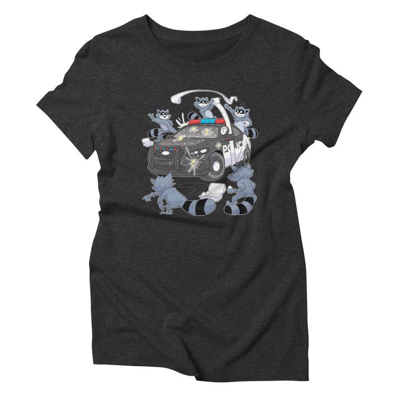 Midnight Mischief Women's Triblend T-Shirt by Raccoon Brand