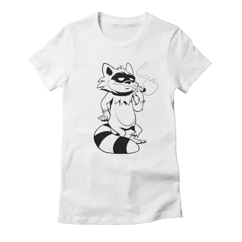 The Night Is Yours Women's Fitted T-Shirt by Raccoon Brand
