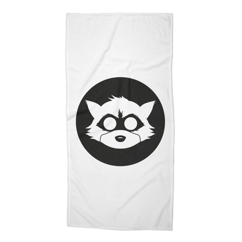 Raccoon Brand Logo Accessories Beach Towel by Raccoon Brand