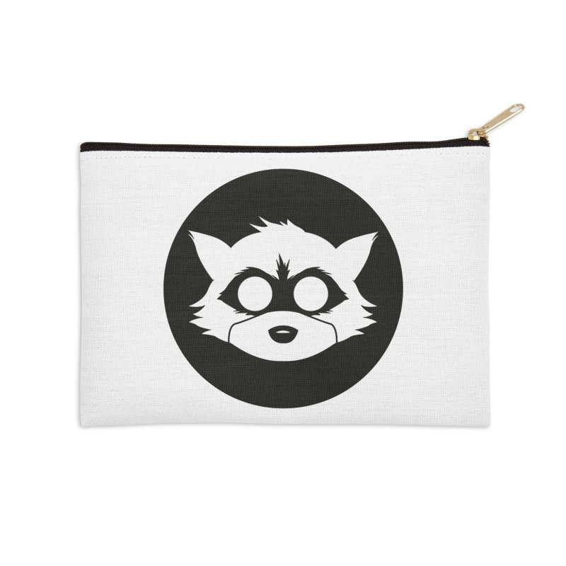 Raccoon Brand Logo Accessories Zip Pouch by Raccoon Brand