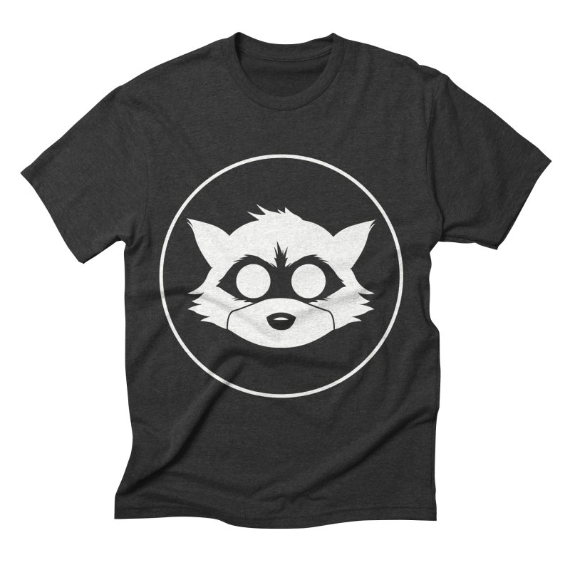 Raccoon Brand Logo Men's Triblend T-Shirt by Raccoon Brand