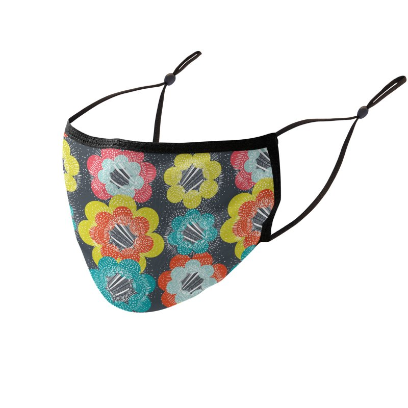 Abstract Burst Retro Accessories Face Mask by Rachael Taylor's Artist Shop