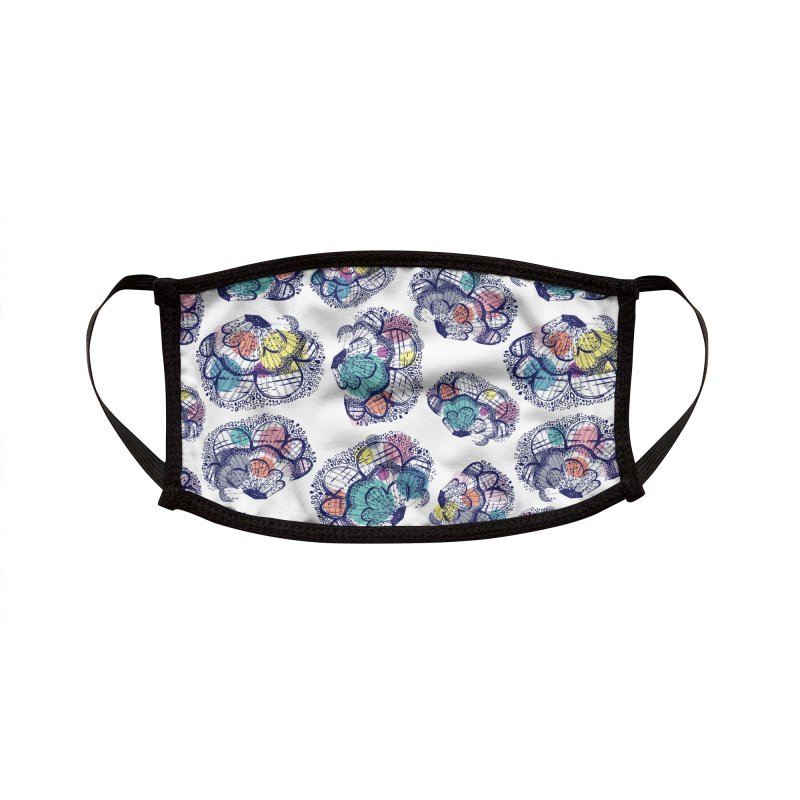Floral Clouds Accessories Face Mask by Rachael Taylor's Artist Shop