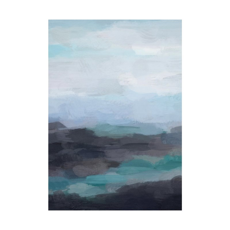 Sky Navy Blue Black Ocean Horizon Rock Abstract Art Painting by racheleliseart's Artist Shop