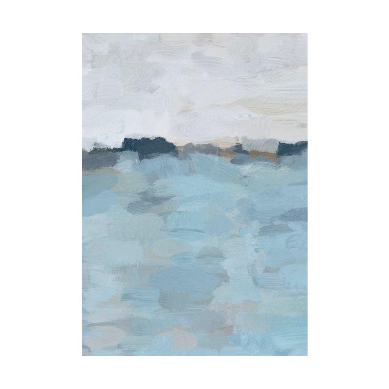 Baby Sky Blue Navy Ocean Horizon Abstract Art Painting by racheleliseart's Artist Shop