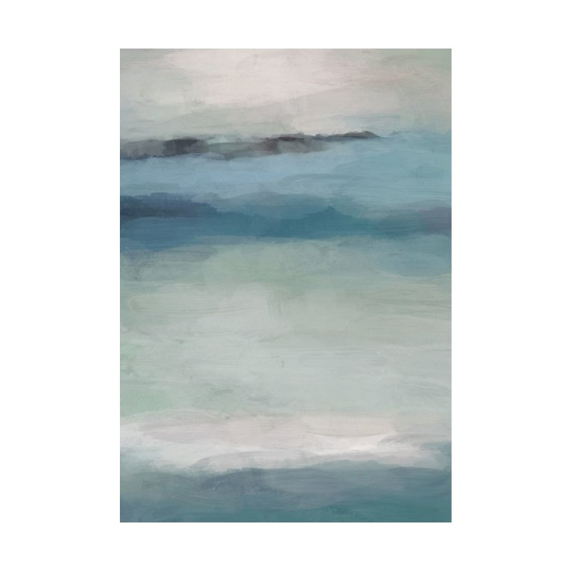 Mint Sky Navy Blue Black Rock Ocean Tropical Hawaii Wave Abstract Painting Art by racheleliseart's Artist Shop