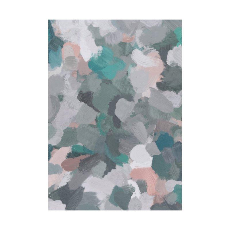 Mint Green Blush Pink Gray Abstract Art Modern Painting by racheleliseart's Artist Shop