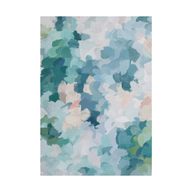 Blue, Green & Pink Abstract Art Modern Floral Spring Painting by racheleliseart's Artist Shop