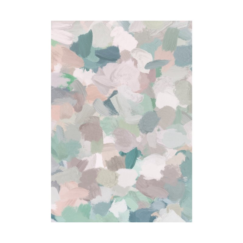 Mint Green Dusty Rose Blush Pink Abstract Painting Modern Art by racheleliseart's Artist Shop