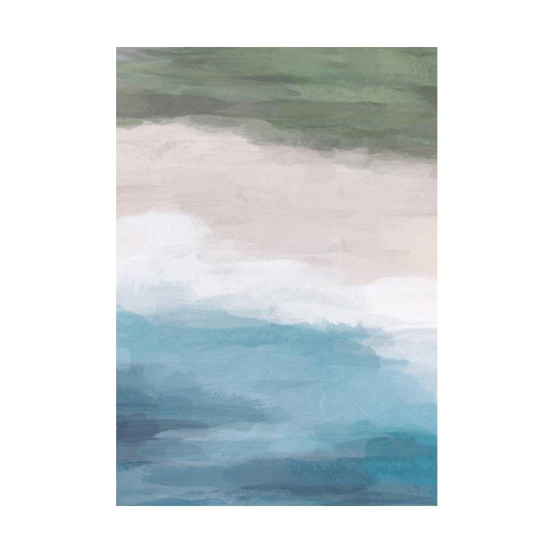 Grass Green Blue Ocean Beige Sand Aerial Abstract Art Modern Painting by racheleliseart's Artist Shop
