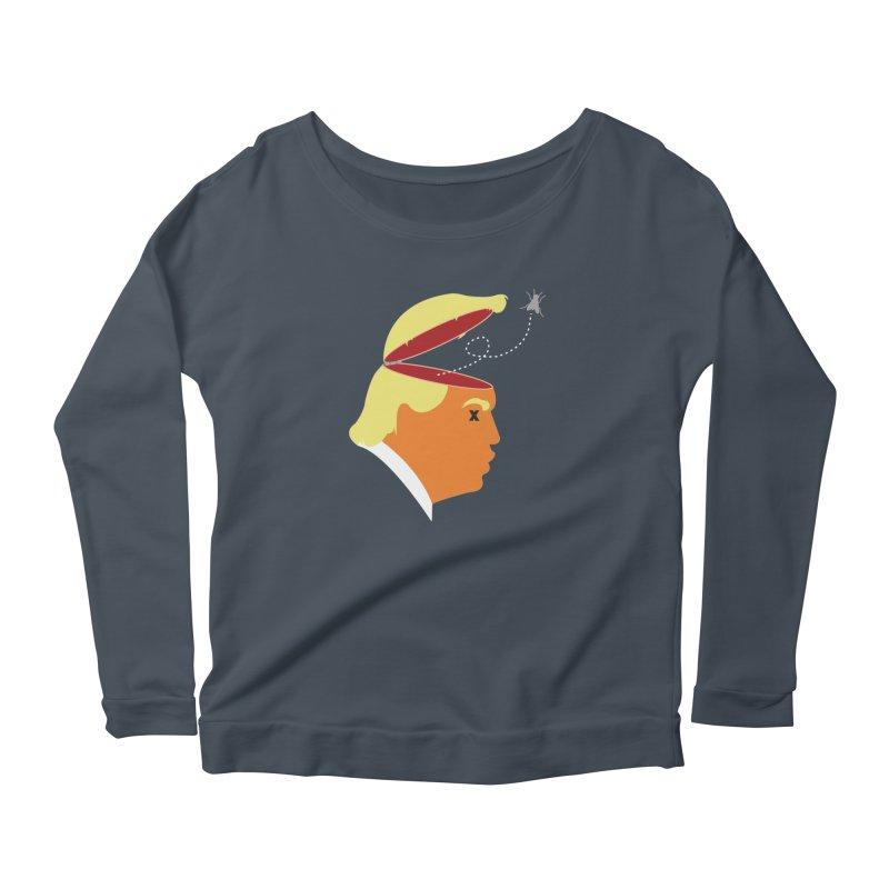 An Irritating Buzz in Women's Scoop Neck Longsleeve T-Shirt Denim by Rachel Draws - Donate to Planned Parenthood