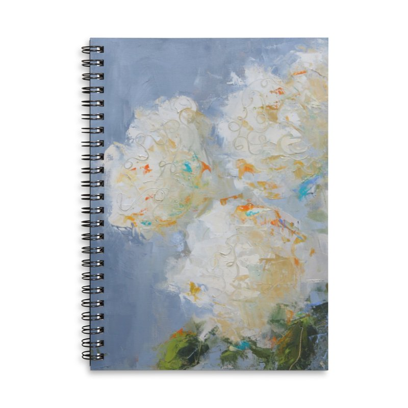 Hydrangea Accessories Lined Spiral Notebook by rachelspaintings's Artist Shop