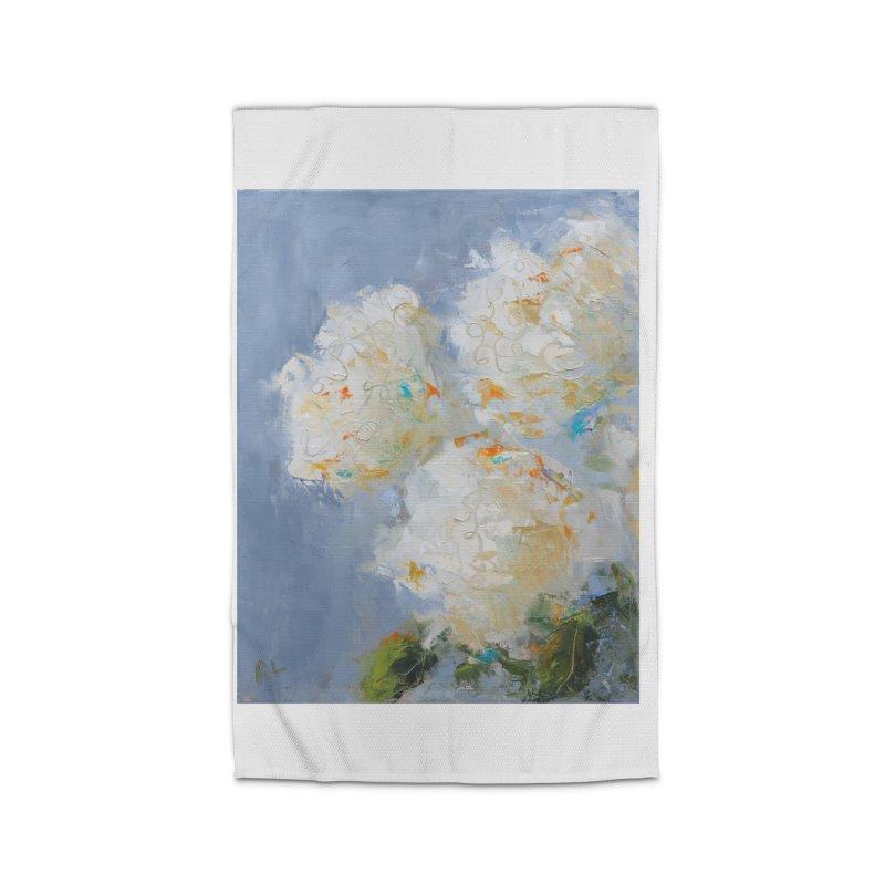 Hydrangea Home Rug by rachelspaintings's Artist Shop