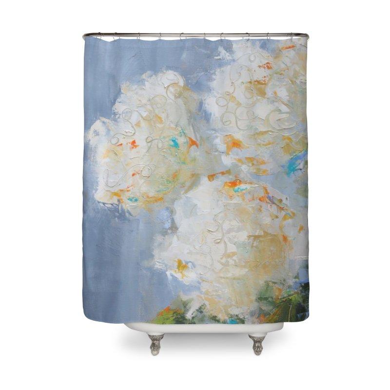 Hydrangea Home Shower Curtain by rachelspaintings's Artist Shop