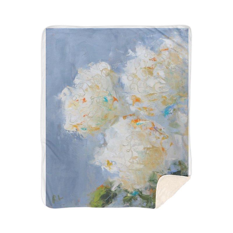 Hydrangea Home Sherpa Blanket Blanket by rachelspaintings's Artist Shop