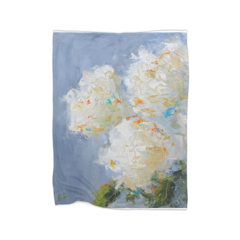 Hydrangea Home Fleece Blanket Blanket by rachelspaintings's Artist Shop