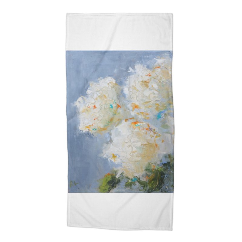 Hydrangea Accessories Beach Towel by rachelspaintings's Artist Shop