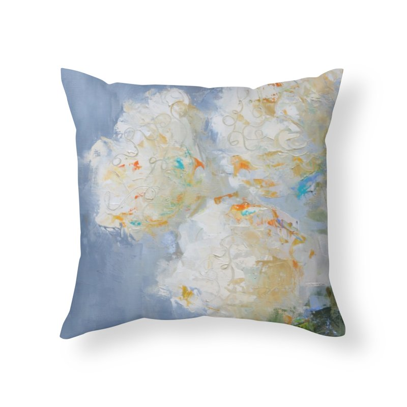 Hydrangea Home Throw Pillow by rachelspaintings's Artist Shop
